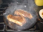 Cooking Steak on Your Cast Iron Survival Skillet