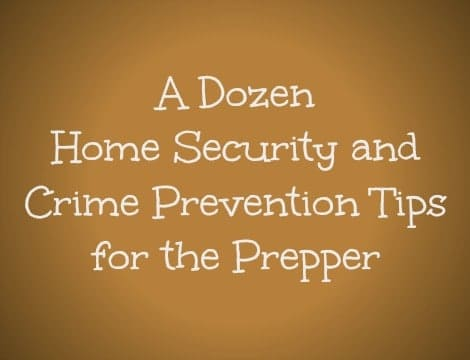 Dozen Home Security Tips