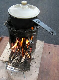 Survival Basics: How to Build a Fire in a Rocket Stove