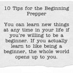 The Year of the Prepper: 10 Tips for Beginners
