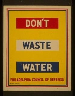 Water Conservation Vintage Poster