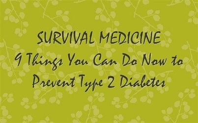 Survival Friday: Diabetes and Survival   Backdoor Survival