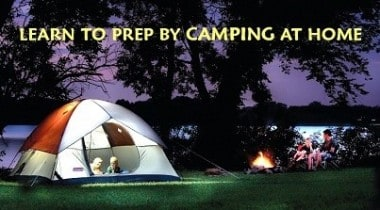 Learn to Prep by Camping at Home