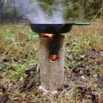 Survival Friday: One Log DIY Rocket Stove