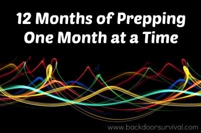 12 months of prepping – outline