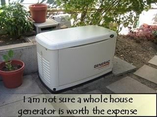 Gayes Whole House Generator Jan 2014
