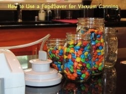How to Use a Food Save for Vacuum Canning