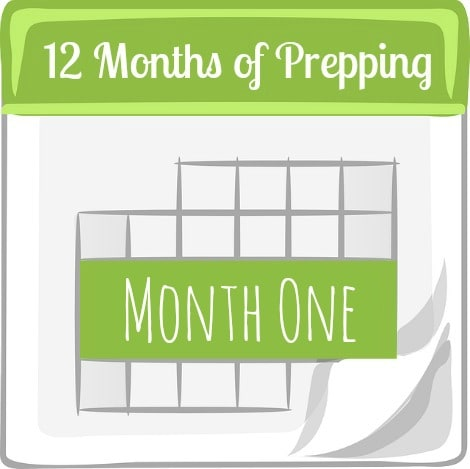 12 Months of Prepping Month One - www.backdoorsurvival.com