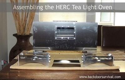 Assembling the Herc Tea Light Oven