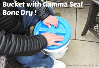 Gamma Lid Bone Dry in Rain