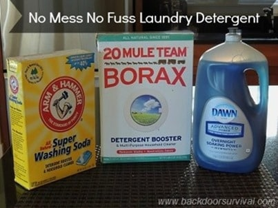 The No Mess No Fuss Method of Making DIY Laundry Detergent | Backdoor Survival