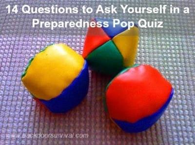 Prepper Pop Quiz