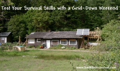Test Survival Skills With A Grid-Down Weekend 403x239