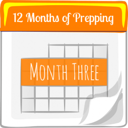 12 Months of Prepping: Month Three