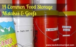 14 Common Food Storage Mistakes and Goofs