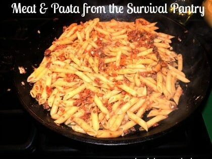 Free Food Friday: Meat and Pasta from the Survival Pantry
