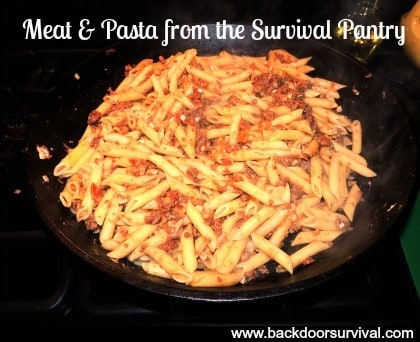 Meat Pasta Survival Pantry
