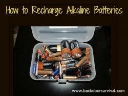 How to Recharge Alkaline Batteries