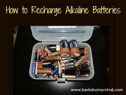 Recharged Alkaline Batteries - Backdoor Survival