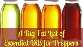 A Big Fat List of Essential Oils for Preppers