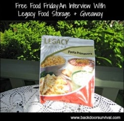 An Interview With Legacy Food Storage