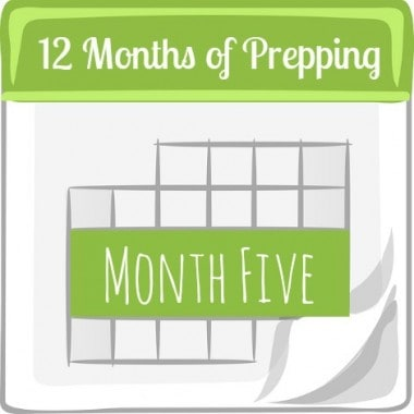 12 Months of Prepping: Month Five