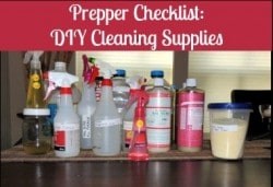 Prepper Checklist: DIY Cleaning Supplies