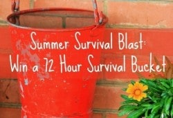 Summer Survival Blast: Win a 72 Hour Survival Bucket