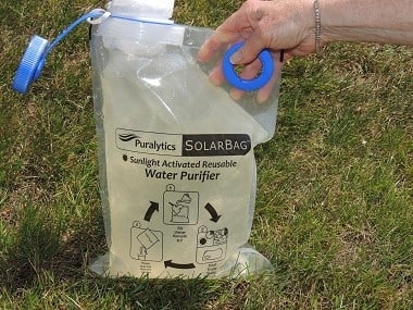 SolarBag Tea colored water