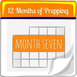 12 Months of Prepping: Month Seven