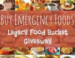 Legacy Food Bucket Giveaway