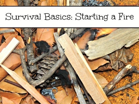 Survival Basics Starting a Fire 470