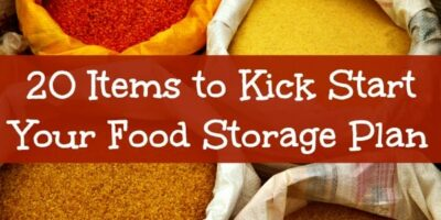 20 Items to Kick Start Your Long Term Food Storage Plan