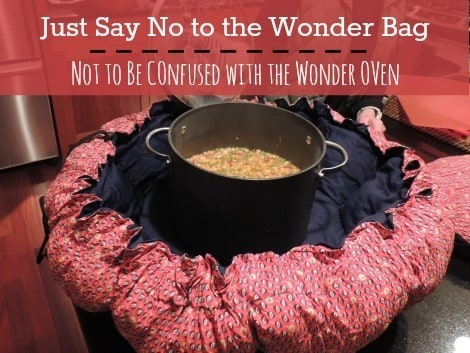 No to the wonder bag