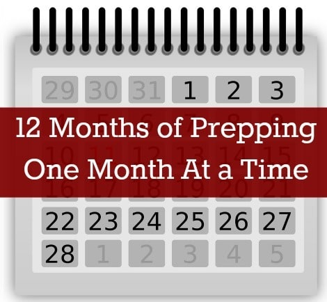 Ease into preparedness with 12 Months of Prepping, One Month At a Time  www.backdoorsurvival.com 