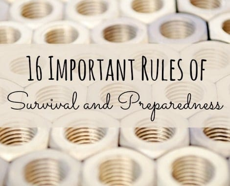 16 Important Rules of Survival