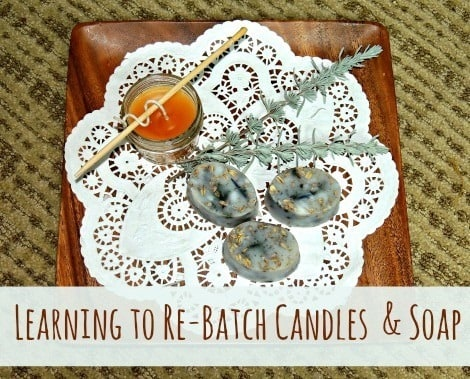Soap & Candle from Scraps