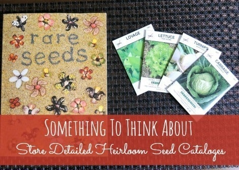 Save heirloom seed catalogs with your seed storage - Backdoor Survival