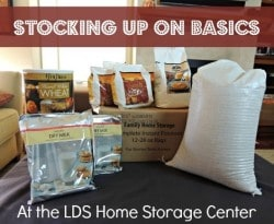 Stocking up on basics from the LDS Home Storage Center |Backdoor Survival|
