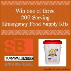 Win a free emergency food supply kit - Backdoor Survival
