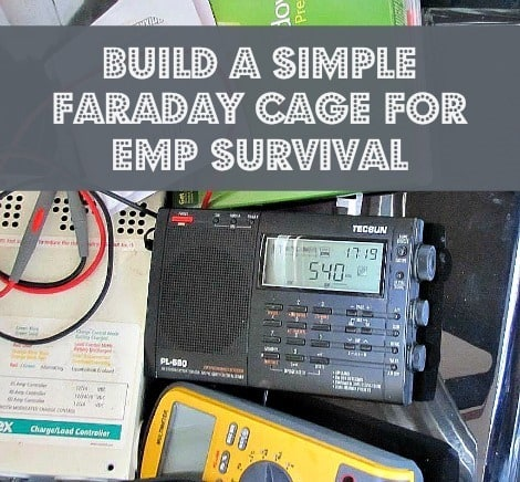How to Build a Simple Faraday Cage for EMP Survival - Backdoor Survival