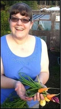 LeAnn Edmondson in her garden - Backdoor Survival