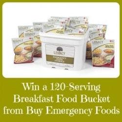 Win a Legacy Breakfast Food Bucket - Backdoor Survival