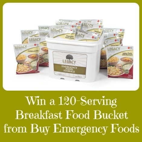Win a Legacy Breakfast Food Bucket - Backdoor Survival