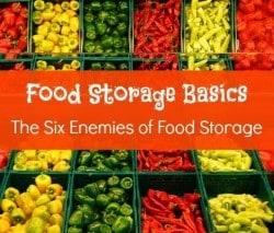 Survival Basics: The Six Enemies of Food Storage