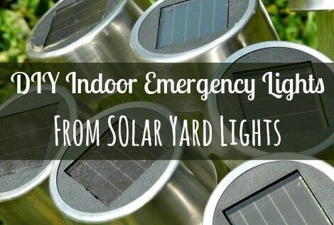 DIY Emergency Lights from Solar Yard Lights