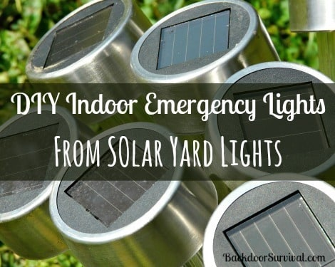 DIY Indoor Emergency Lights from Solar Yard Lights - Backdoor Survival