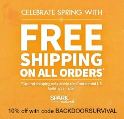 Spark Naturals Free Shipping - Backdoor Survival