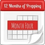 12 Months of Prepping: Month Four