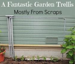 Fantastic Garden Trellis from Scraps - Backdoor Survival